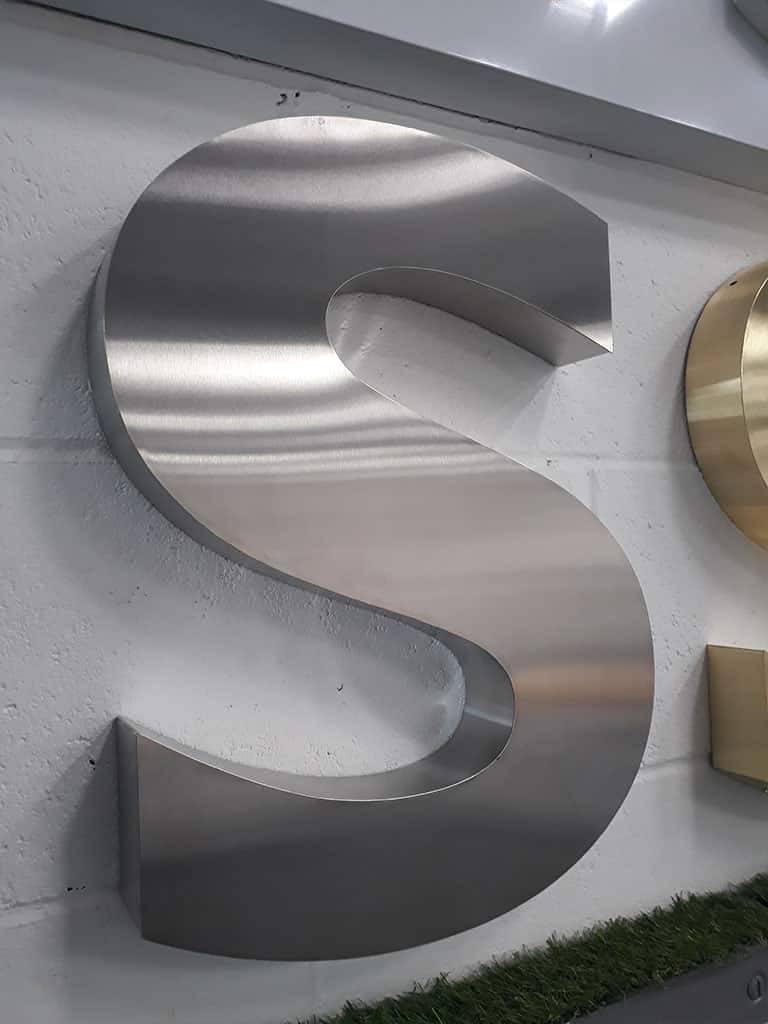 Brushed Satin Stainless Steel Metal 3D Letter SteelCo Signs