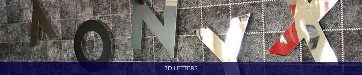 3d Letters Banner