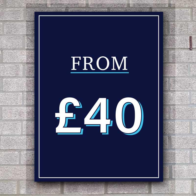 Cheap Budget Discount Panel Dibond Sign