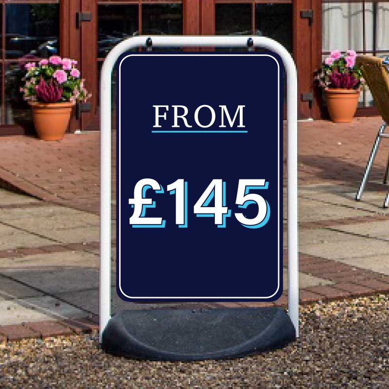 Cheap Budget Discount Swing Pavement Sign