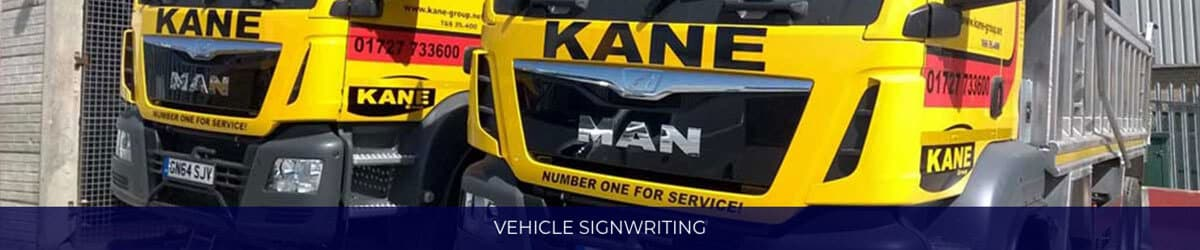 Vehicle Signwriting Banner