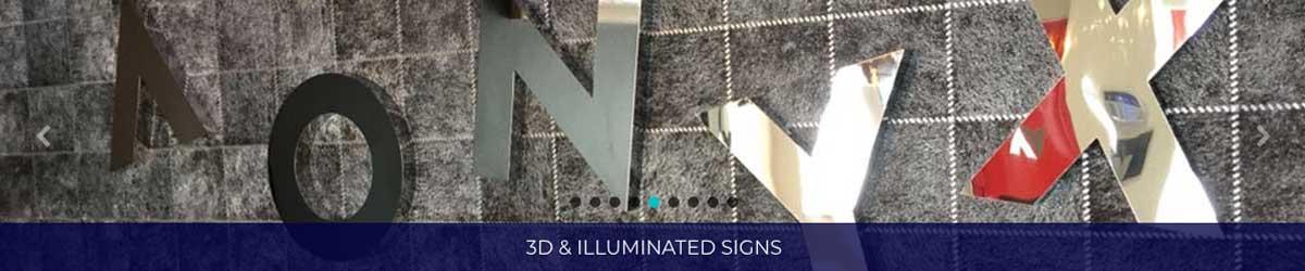 3d Illuminated Signs