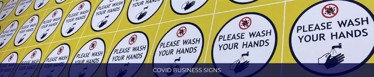 Covid Business Signs