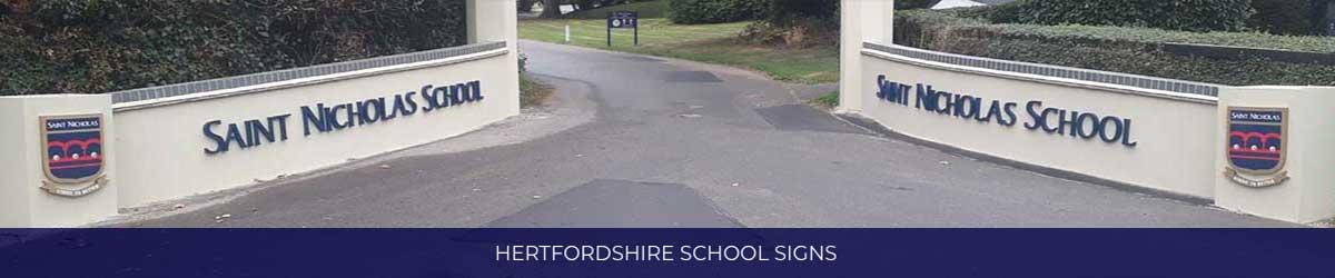 Hertfordshire School Signs V2