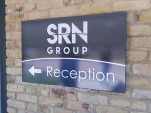 Reception Sign Arrow