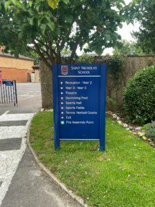 School Sign Board Hertfordshire