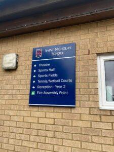 School Wall Sign Herts